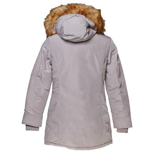 Parka donna con cappuccio e eco-fur bata, grigio, 979-2648 - 26