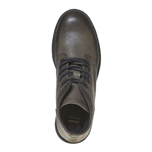 Scarpe di pelle sopra la caviglia da uomo bata, grigio, 894-2704 - 19