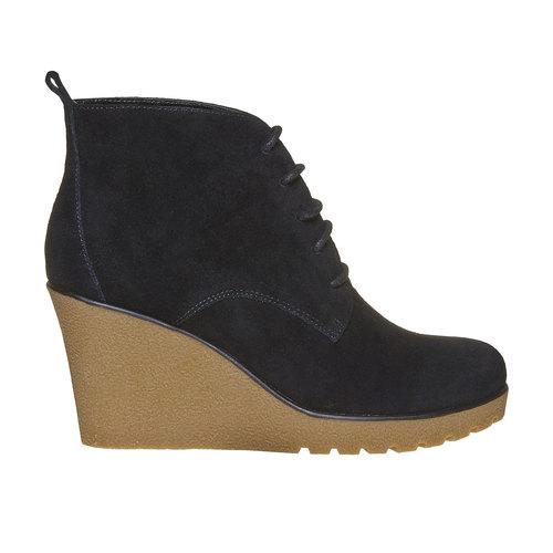 Scarpe da donna in pelle alla caviglia bata, nero, 793-6594 - 15