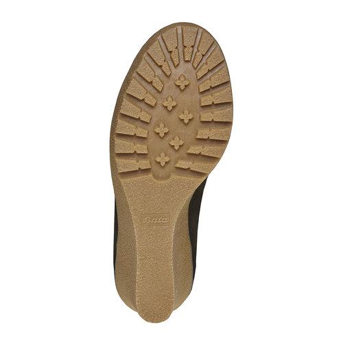 Scarpe da donna in pelle alla caviglia bata, nero, 793-6594 - 26