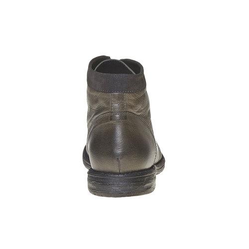 Scarpe di pelle sopra la caviglia da uomo bata, grigio, 894-2704 - 17
