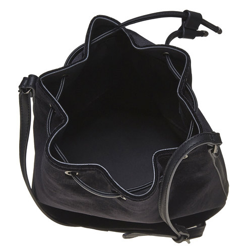 Borsetta in velluto in stile Bucket Bag bata, nero, 969-6319 - 15