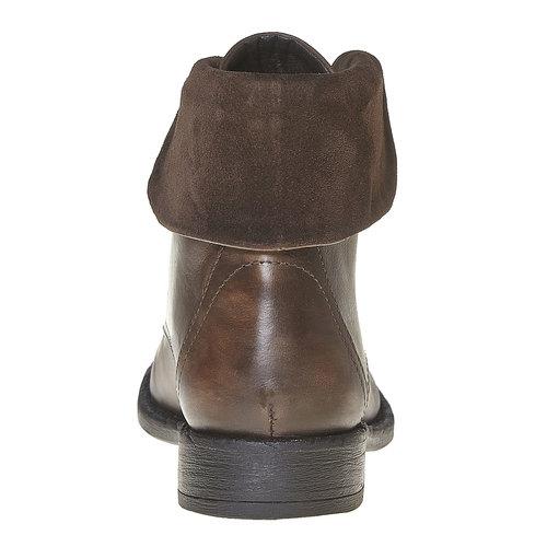Scarpe da donna alla caviglia in pelle bata, marrone, 594-4450 - 17