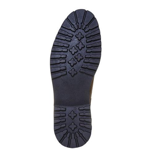 Scarpe da uomo alla caviglia bata, grigio, 894-2634 - 26
