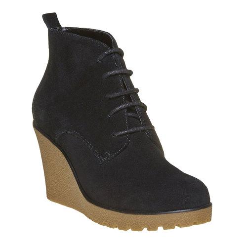Scarpe da donna in pelle alla caviglia bata, nero, 793-6594 - 13