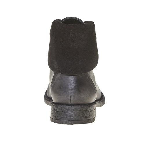 Scarpe da donna in pelle sopra la caviglia bata, nero, 594-6450 - 17