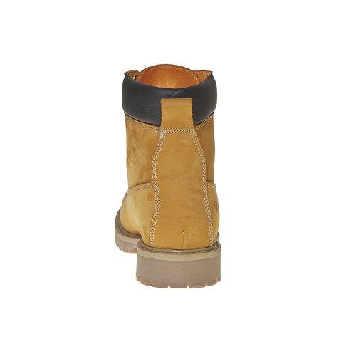 Scarpe invernali da uomo in pelle weinbrenner, giallo, 896-8705 - 17