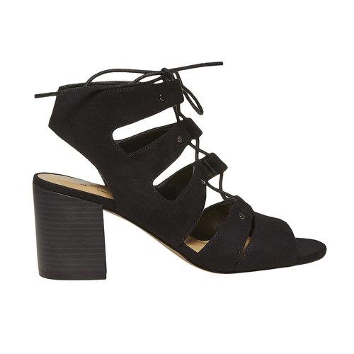 sandalo da donna con tacco bata, nero, 769-6536 - 15