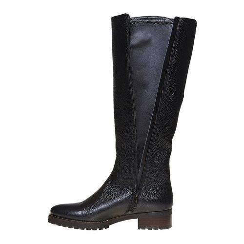 Stivali da donna in pelle bata, nero, 594-6165 - 19