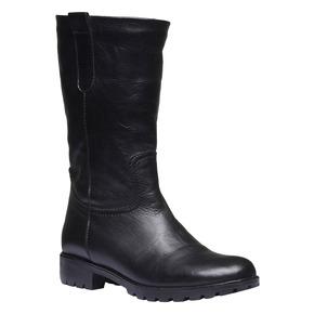 Stivali di pelle bata, nero, 594-6280 - 13