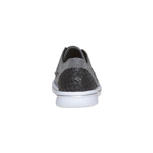 Sneakers da ragazza con strass mini-b, grigio, 329-2214 - 17