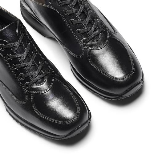 Sneakers informali in pelle bata, nero, 524-6248 - 19