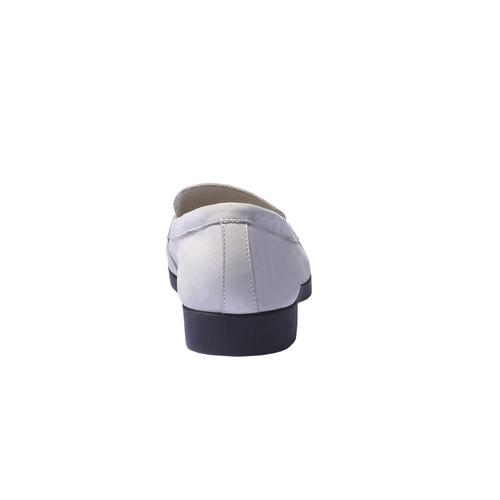 Scarpe di pelle in stile Penny Loafer flexible, grigio, 516-2112 - 17