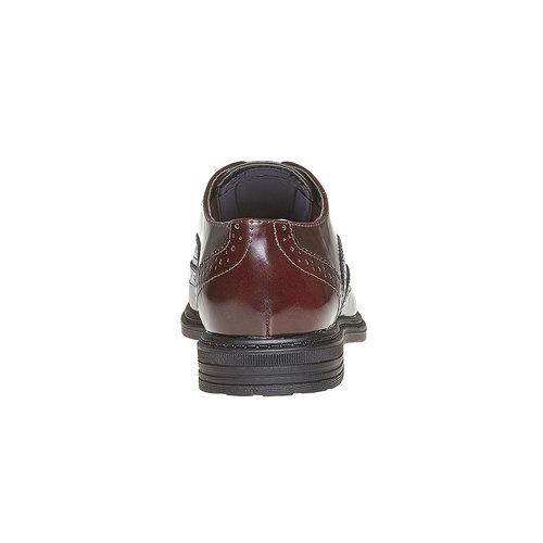 Scarpe basse da bambino con decorazione in stile Brogue mini-b, rosso, 321-5192 - 17
