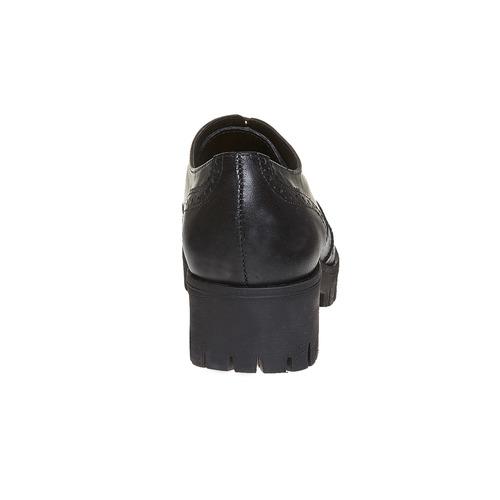 Scarpe basse da donna in pelle bata, nero, 524-6165 - 17