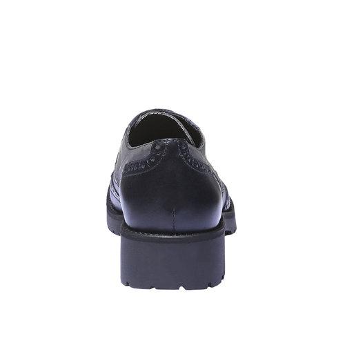 Scarpe basse da donna in pelle bata, viola, 524-9135 - 17