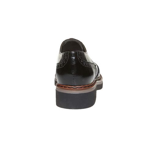 Scarpe basse con decorazioni Brogue e suola appariscente bata, nero, 521-6356 - 17