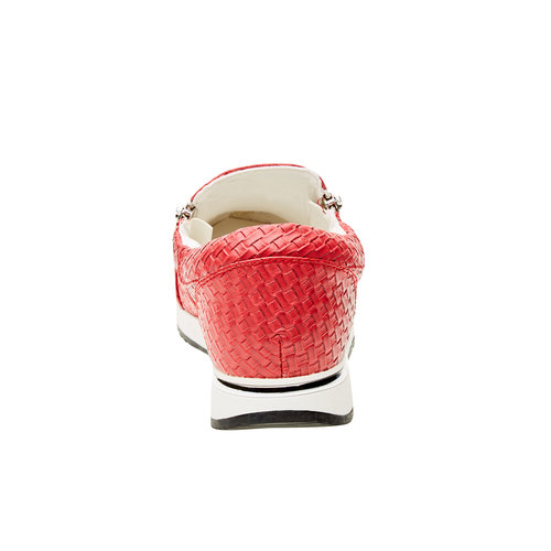 Sneakers dal design intrecciato north-star, rosso, 531-5114 - 17