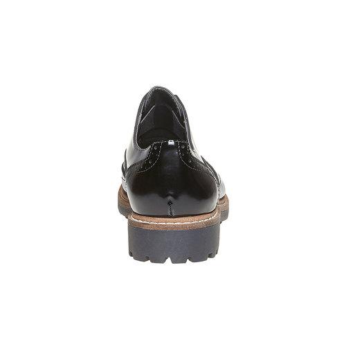Scarpe basse da donna verniciate bata, grigio, 511-2194 - 17