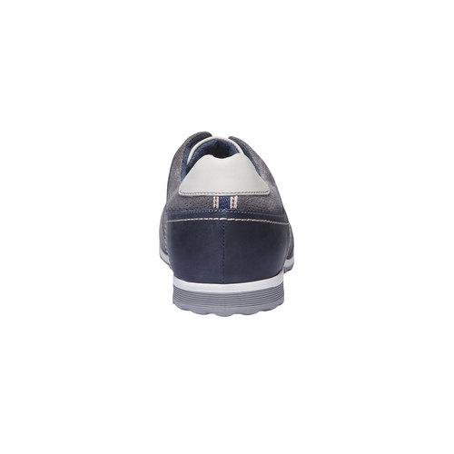 Sneakers da uomo in pelle bata, grigio, 843-2637 - 17