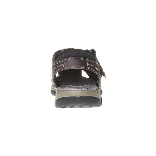 Sandali da uomo in pelle weinbrenner, marrone, 864-4213 - 17