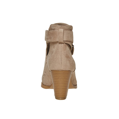 Stivaletti alla caviglia con perforazioni bata, beige, 799-8627 - 17