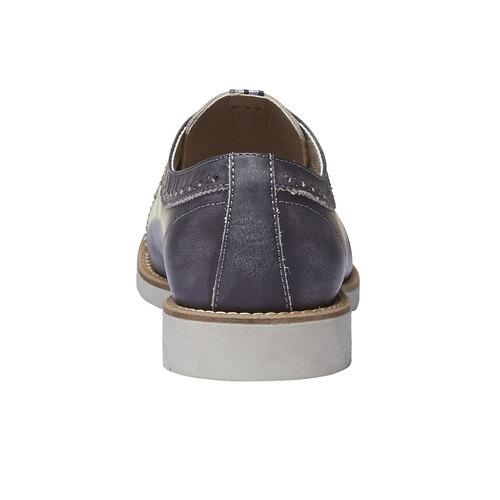 Scarpe basse informali di pelle bata, nero, 824-6856 - 17