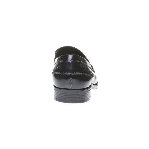 Scarpe da uomo in stile Penny Loafers bata, nero, 811-6150 - 17