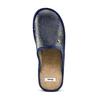 Pantofole da uomo con punta chiusa bata, blu, 871-9304 - 15