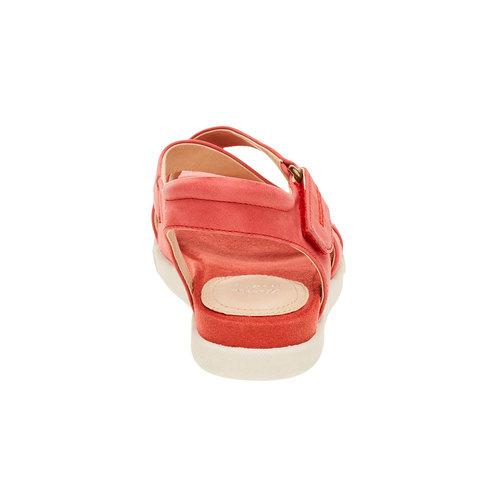 Sandali rossi da donna in pelle bata, rosso, 564-5351 - 17