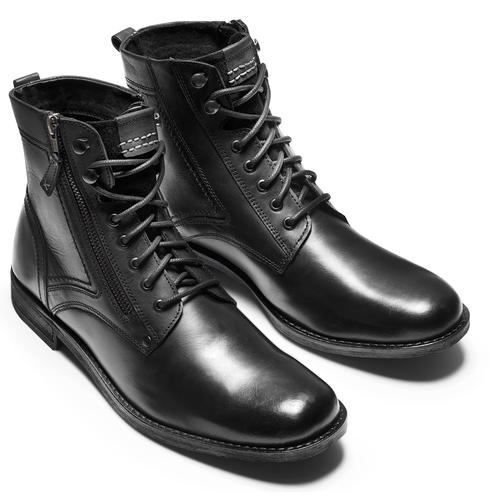 Stivaletti uomo con lacci bata, nero, 894-6449 - 17