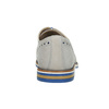 Scarpe basse di pelle con suola colorata bata, grigio, 826-2839 - 17