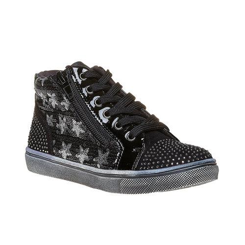 Sneakers da bambina con glitter mini-b, nero, 229-6174 - 13
