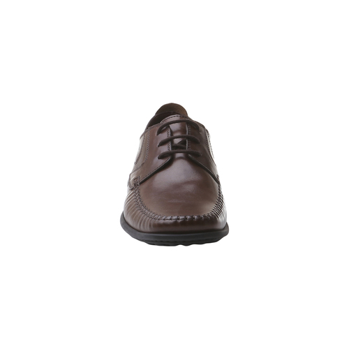 Scarpe in pelle con lacci bata-comfit, marrone, 854-4836 - 16
