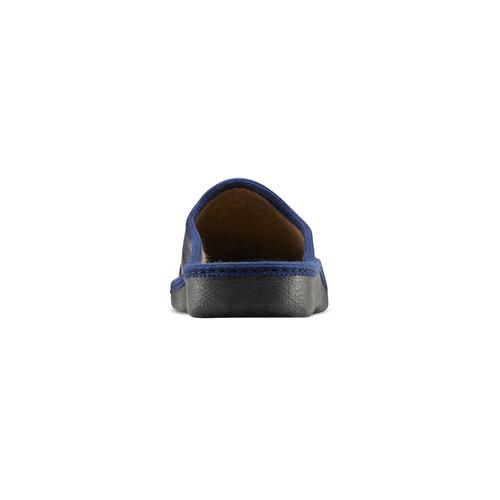 Pantofole da uomo con punta chiusa bata, blu, 871-9304 - 16