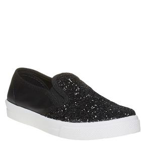 Slip-on da ragazza con glitter north-star, nero, 329-6235 - 13