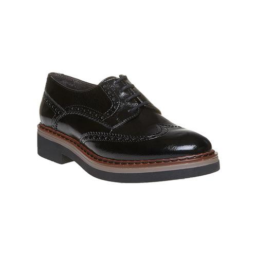 Scarpe basse con decorazioni Brogue e suola appariscente bata, nero, 521-6356 - 13