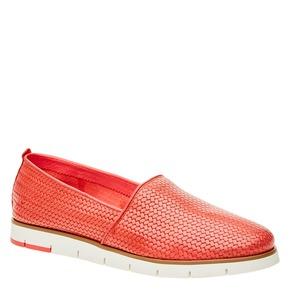 Slip-on da donna con motivo intrecciato flexible, rosso, 515-5203 - 13
