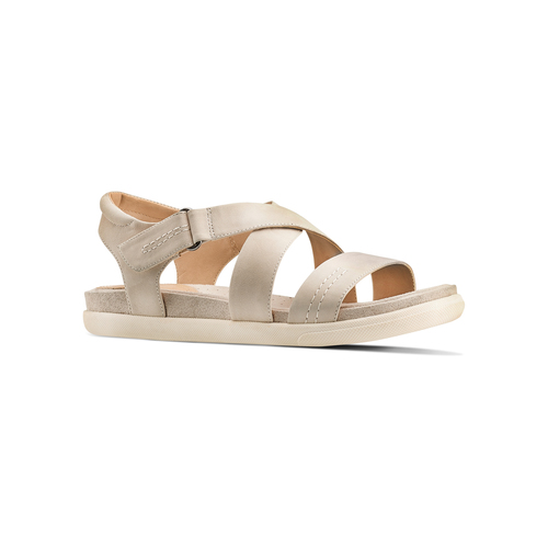 Sandali in pelle bata, beige, 564-4351 - 13