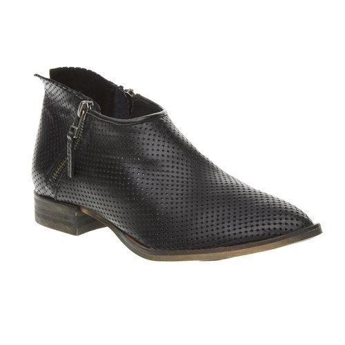 Stivaletti in pelle alla caviglia  bata, nero, 594-6400 - 13