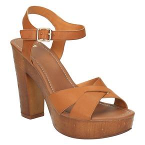 Sandali con tacco massiccio bata, marrone, 761-3500 - 13