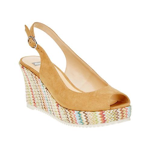Sandali da donna con lati chiusi bata, beige, 769-8522 - 13
