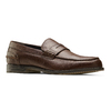 Mocassino in pelle bata, marrone, 814-4128 - 13