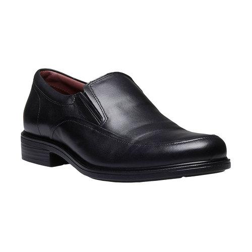 Scarpe basse comode di cuoio bata-comfit, nero, 814-6934 - 13