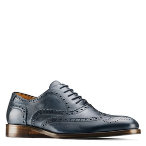 Oxford di pelle bata-the-shoemaker, blu, 824-9594 - 13