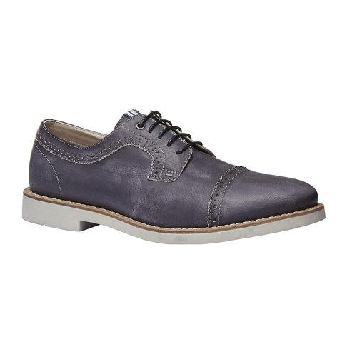 Scarpe basse informali di pelle bata, nero, 824-6856 - 13