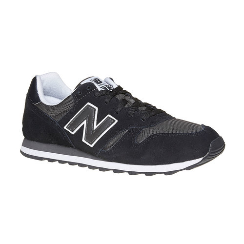 Sneakers da uomo in pelle new-balance, nero, 803-6371 - 13