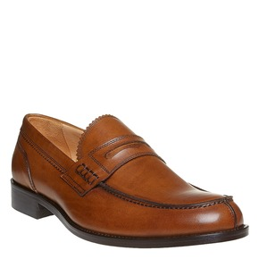 Penny Loafer di pelle da uomo bata-the-shoemaker, marrone, 814-3160 - 13