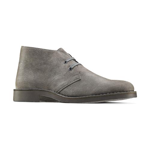 Scarpe alla caviglia in stile Chukka bata, grigio, 893-2275 - 13