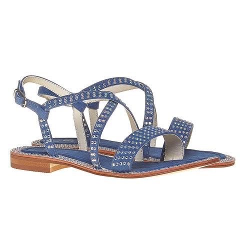Sandali con strass mini-b, blu, 369-9169 - 26